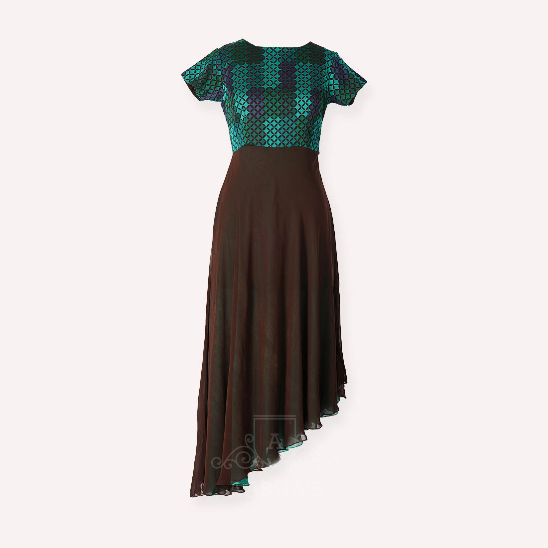 Brown and Green Kurthi...